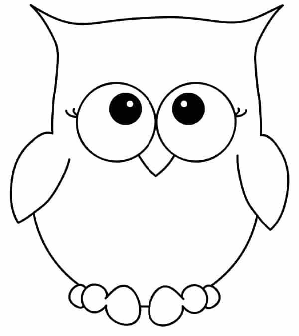 desenho de coruja fofo
