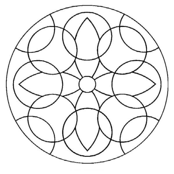 mosaico de papel molde