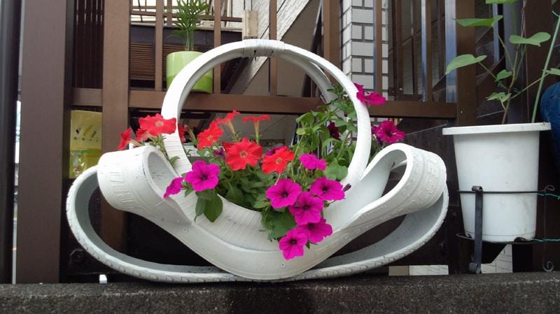 vaso de pneu chique