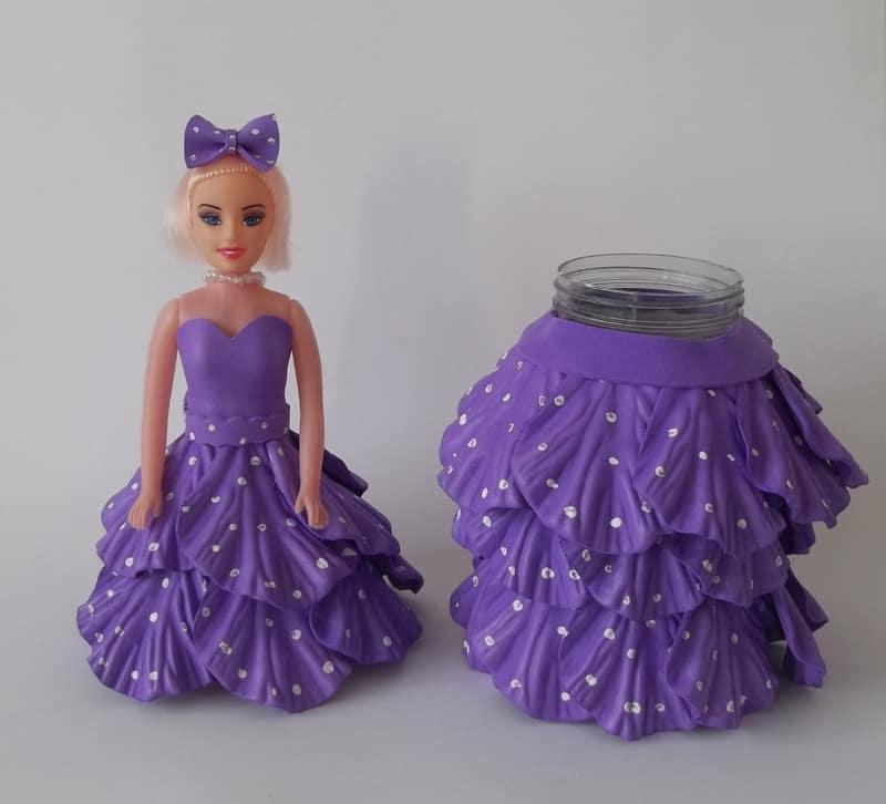 pote decorado boneca