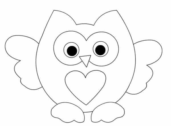 desenho de coruja com asas