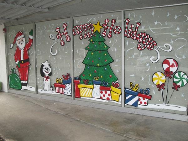 mural de Natal para escola grande
