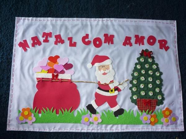mural de Natal para escola tecido
