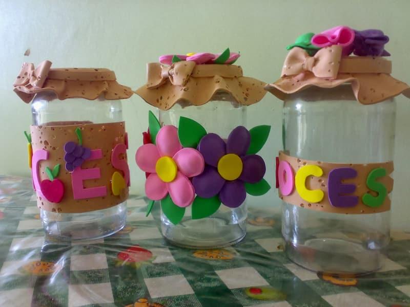 pote decorado letras