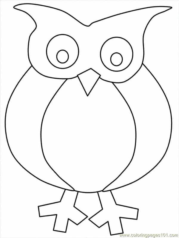 desenho de coruja para artesanato