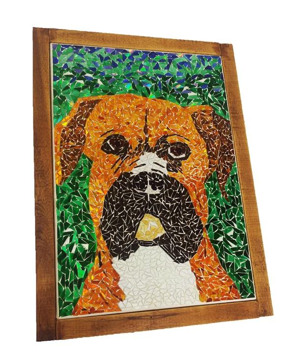 mosaico de papel cao