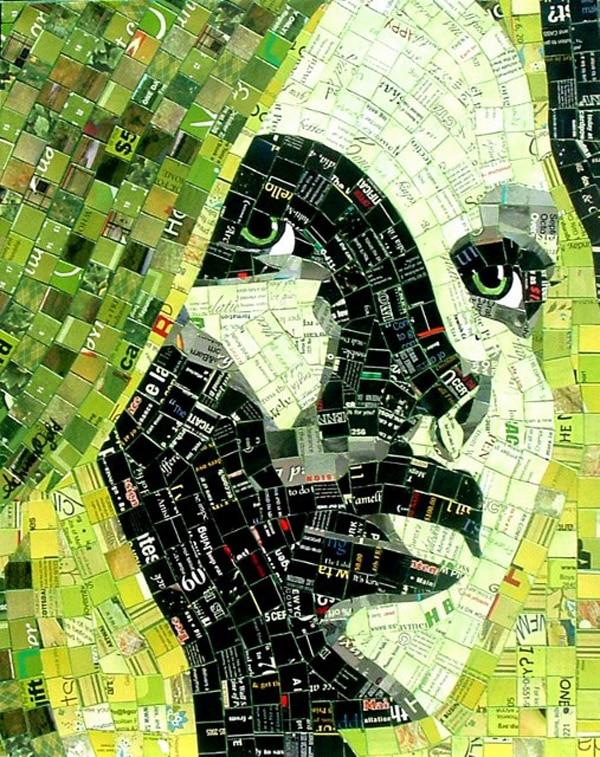 mosaico de papel face