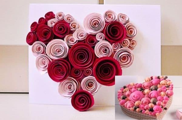 como fazer coração de flores