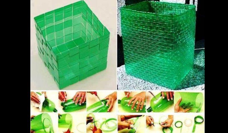 reciclagem de garrafa pet caixa