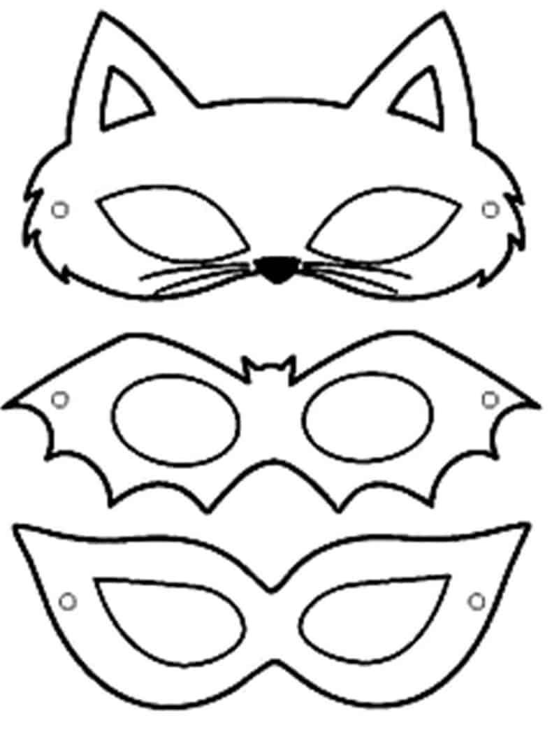 moldes mascara de carnaval