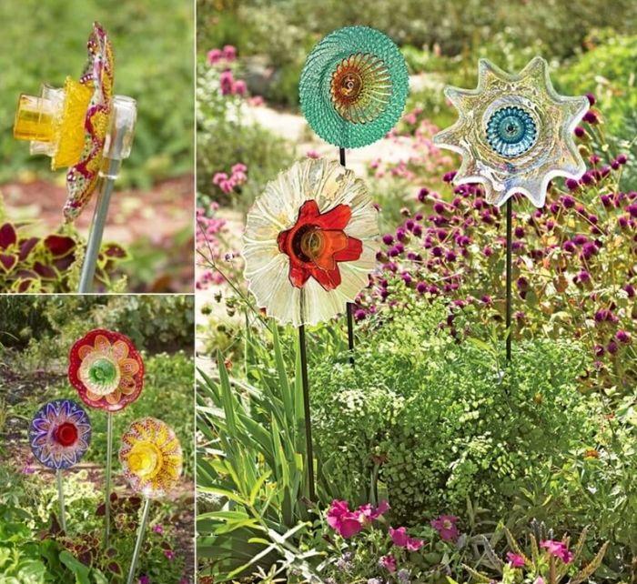 flores recicladas de produtos