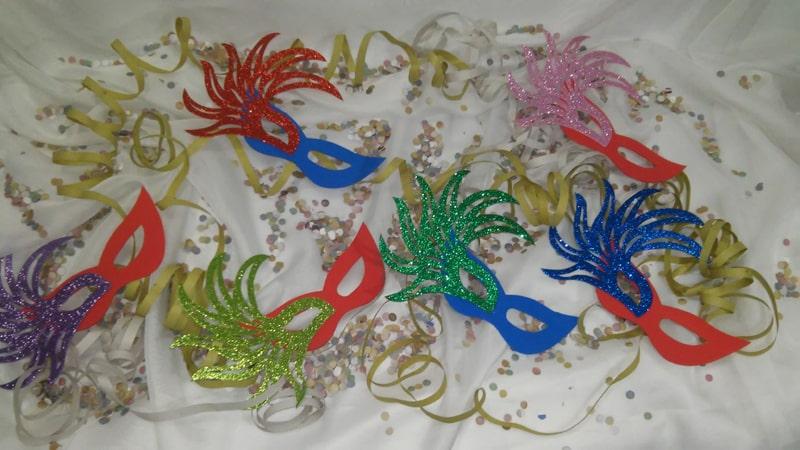 passo a passo mascara de carnaval