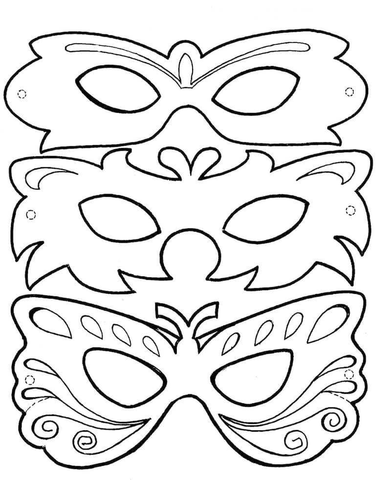 mascara de carnaval com molde