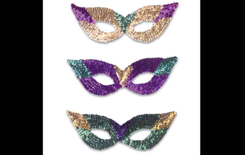 mascara de carnaval paetes