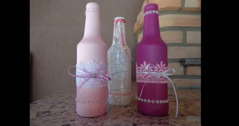 garrafa com renda