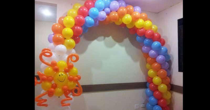 arco de baloes como fazer