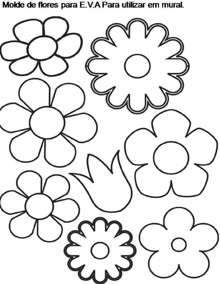 molde flor de eva mural