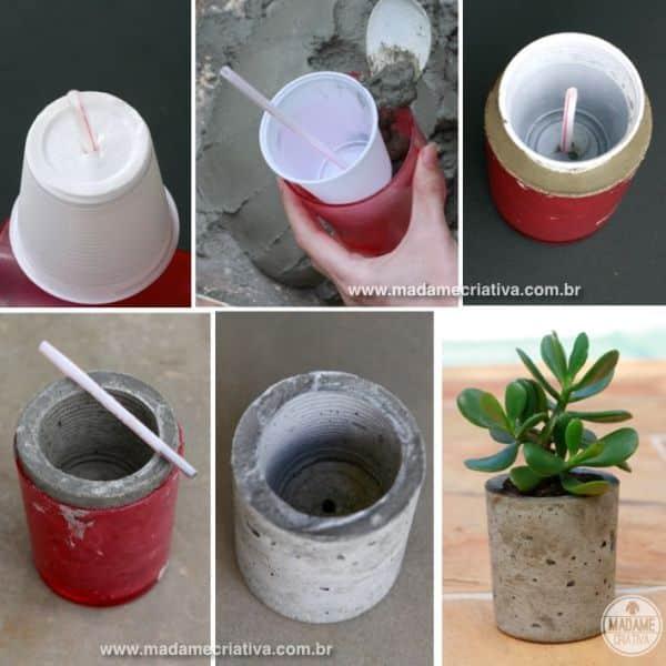 passo a passo vaso de cimento