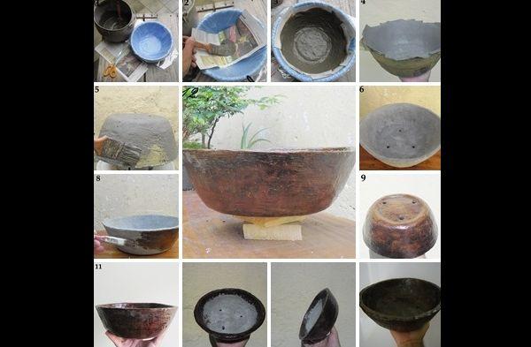 tutorial vaso de cimento