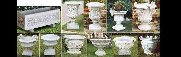 vaso de cimento elaborados