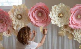 Flor Gigante de Papel: Molde e Passo a Passo