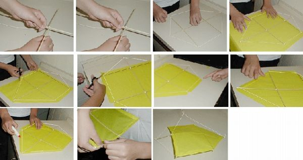 como fazer pipa com papel