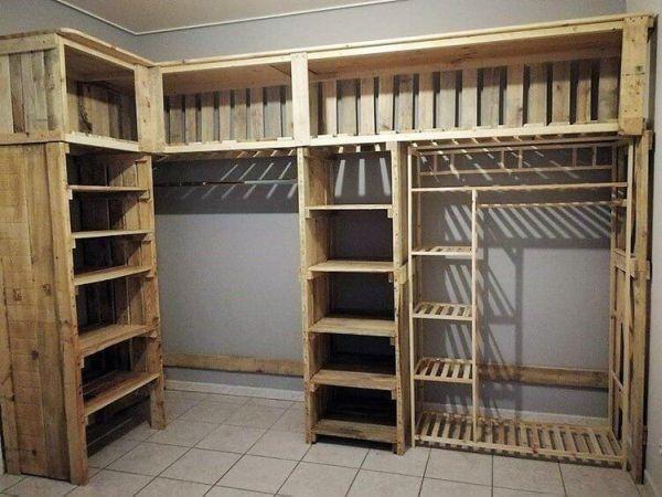 armario de pallet e caixote