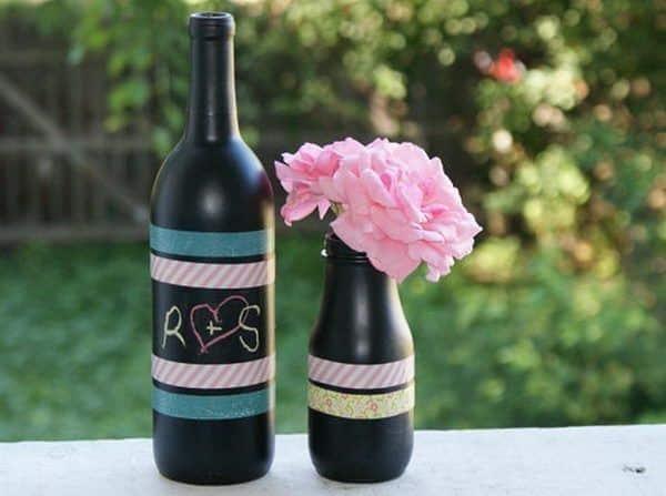 garrafa de vinho para casamento