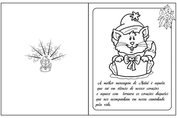 Cartão de natal para imprimir mensagem
