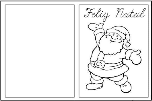 Cartão de natal para imprimir Noel