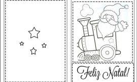 Cartão de Natal para Imprimir e Colorir: Modelos Criativos