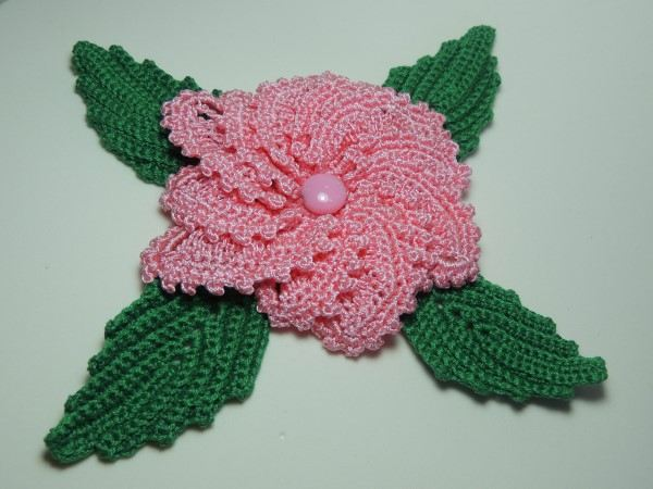 como fazer flor de croche simples