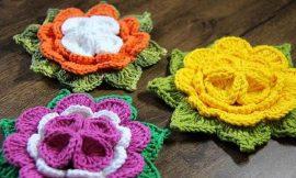Flor de Crochê: 28 Modelos, Passo a Passo Fácil