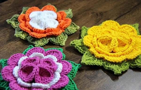 Read more about the article Flor de Crochê: 28 Modelos, Passo a Passo Fácil