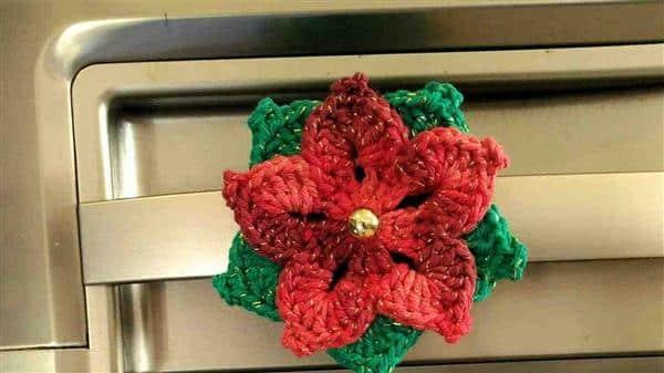 flor de croche natalina