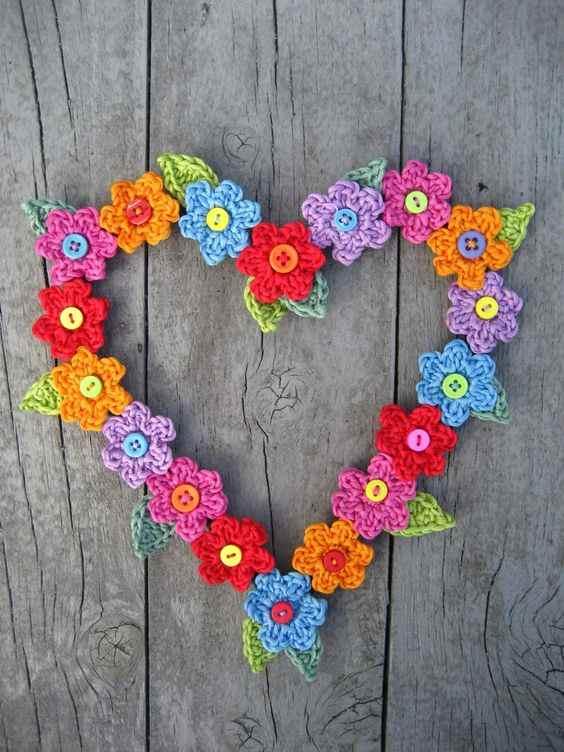 modelo de flor de croche