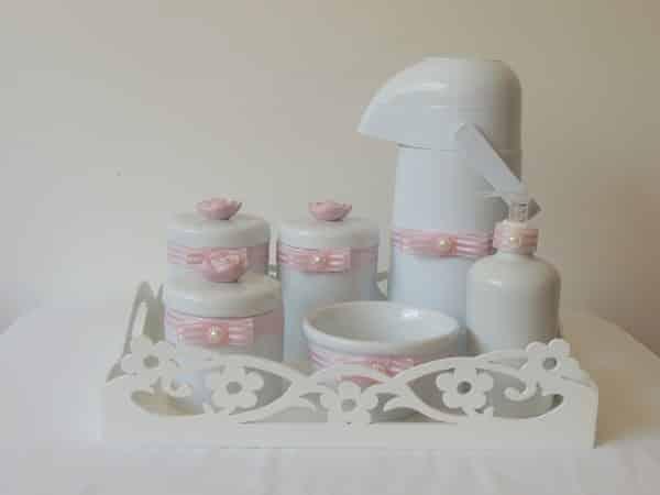 kit higiene de porcelana menina