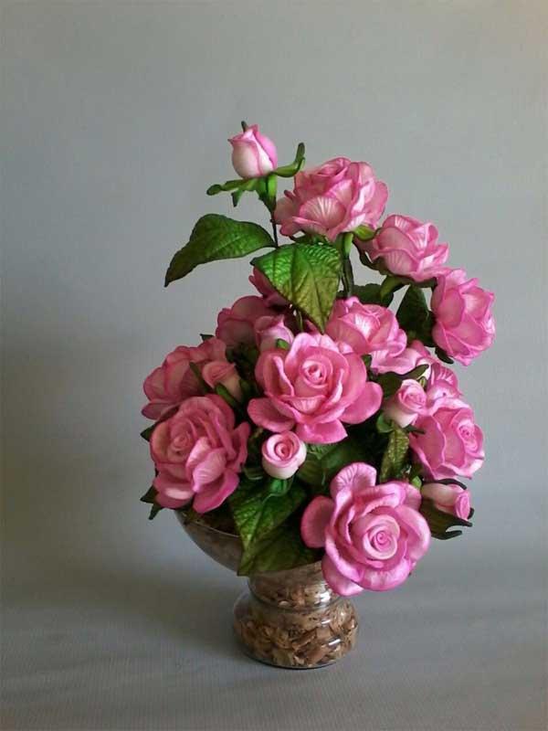 Centro de mesa para casamento floral EVA