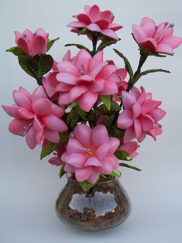 Centro mesa casamento arranjo flor rosa