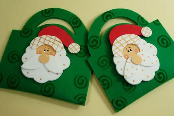 Lembrancinhas de natal em eva bolsinha de doces