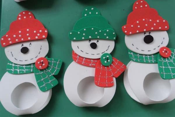 Lembrancinha de natal em EVA boneco de neve