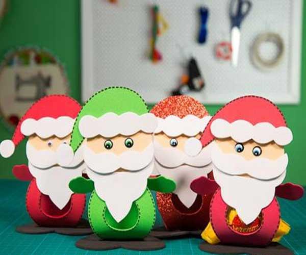 Lembrancinhas de natal em EVA com bombons