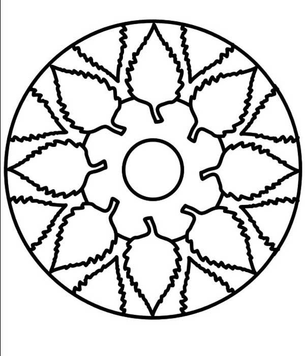 Mandala floral para técnica de pontilhismo