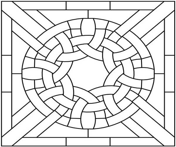 Mosaico para atividade de pontilhismo