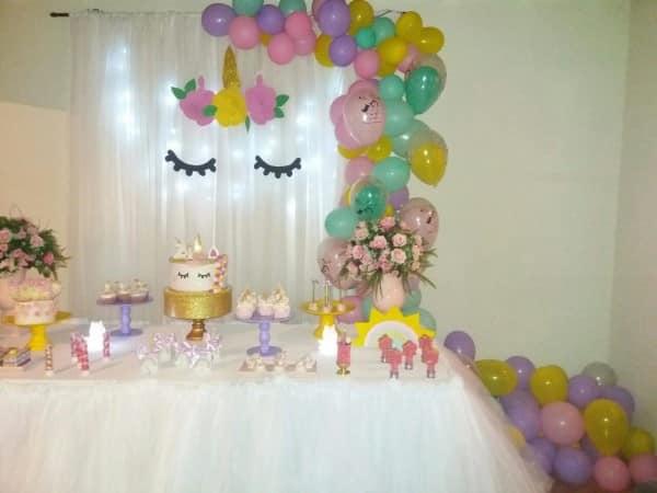 decoração barata festa