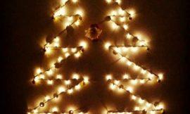 Árvore de Natal na Parede: Fotos, 20 Ideias
