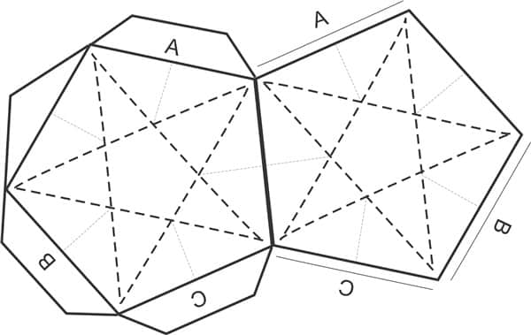 molde de estrela 3d