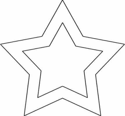 estrela vazada molde