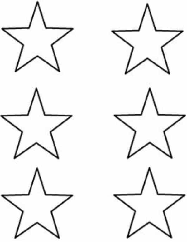 estrelas pequenas molde