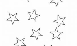 Moldes de Estrelas para Imprimir e Recortar